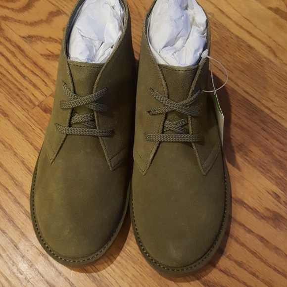 Nwt Lands End Boys Suede Olive Green